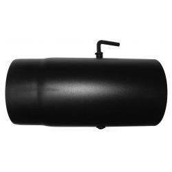 Fekete füstcső 180/250 mm pillangós